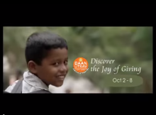 Indian Joy of giving week